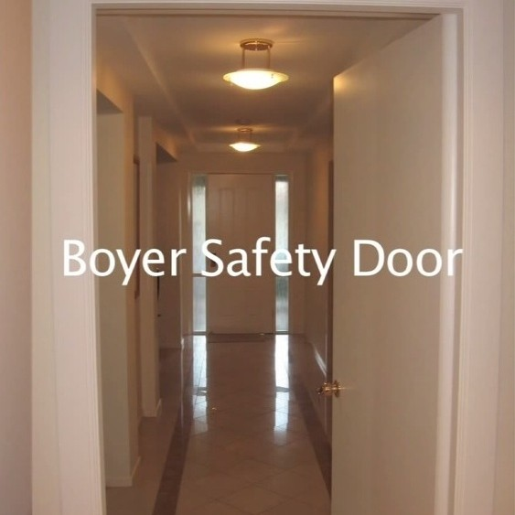 Boyer Safety Door™ - Looks great when open -no ugly hinges visible & Boyer Safety Door - Safe for Little Hands